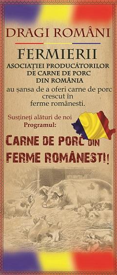 Carne de porc din ferme romanesti